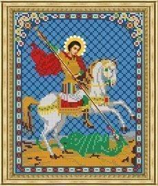 Рисунок на ткани для вышивания бисером Бис 445 «Св. Георгий Победоносец»