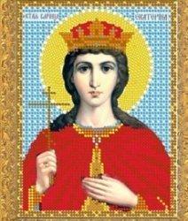 """Рисунок на ткани для вышивания бисером 706М """"Святая Великомученица Екатерина"""""""
