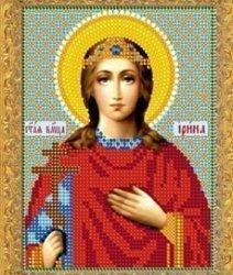 """Рисунок на ткани для вышивания бисером 715М """"Святая Великомученица Ирина"""""""