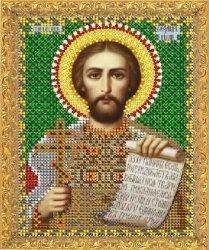 """Рисунок на ткани для вышивания бисером 752М """"Святой Александр"""""""
