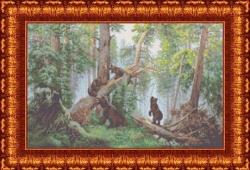 Канва для бисера КБП-2004 Утро в сосновом лесу