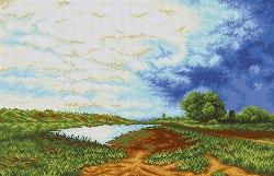 Канва для бисера КБП-2006 Мокрый луг