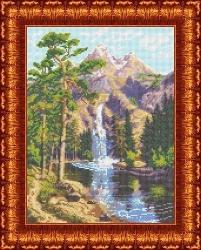 Канва для бисера КБП-3024 Горный водопад