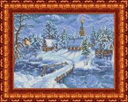 Канва для бисера КБП-3026 Зимний вечер