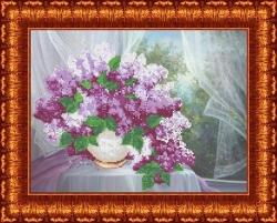 Канва для бисера КБЦ-3020 Сирень у окна