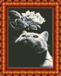 Канва для бисера КБЖ-1001 Кот