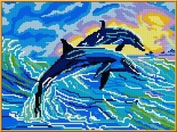 Канва для бисера КБЖ-3001 Дельфины