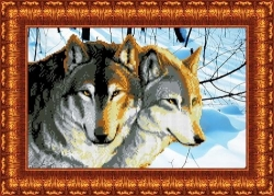 Канва для бисера КБЖ-3006 Волки