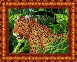 Канва для бисера КБЖ-3012 Леопард
