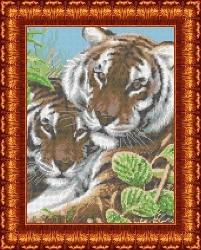 Канва для бисера КБЖ-3018 Тигры
