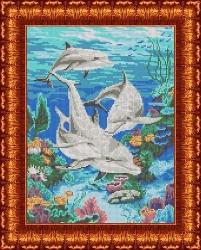 Канва для бисера КБЖ-3020 Морская идиллия