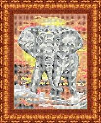 Канва для бисера КБЖ-4015 Слон