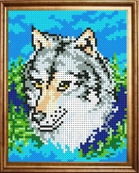 Канва для бисера КБЖ-5002 Волк