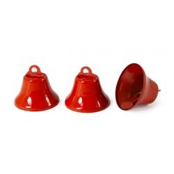 Колокольчик красный,эмаль д.3,2см 1/50 шт