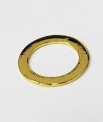 Кольцо металлическое №6352 золото