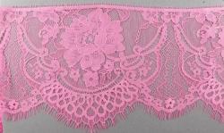 """Кружево капроновое """"Шанталье"""" №4036 15 см 1/3 ярд., розовый"""