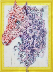 Набор-картина со стразами на подрамнике 009 LP