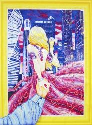 Набор-картина со стразами на подрамнике 020 LP