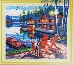 Набор-картина со стразами на подрамнике 075 LP