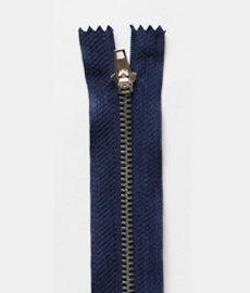 Молния джинсовая т.4 металл 14см. (1/50)