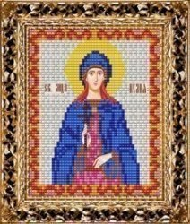 Набор для вышивания бисером ВБ-103 Икона Святой Мученицы Иулии (Юлии)