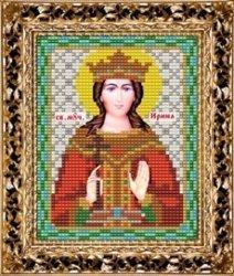 Набор для вышивания бисером ВБ-105 Икона Святой Великомученицы Ирины