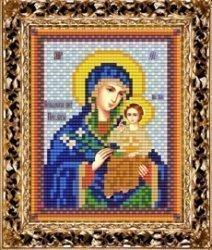 """Набор для вышивания бисером ВБ-254 Икона Пресвятой Богородицы """"Неувядаемый цвет"""""""
