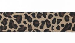"Резинка полиэстер ""Леопард"" коричн. 4 см 1/25 ярд"