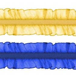 Резинка-рюш 2-х сторон. 2,5 см 1/20 ярд