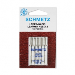Иглы №90(14) SCHMETZ для бытовых швейных машин (кожа)