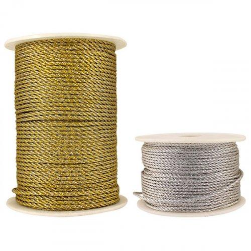 Шнур верёвка с люрексом 2мм 1/50м