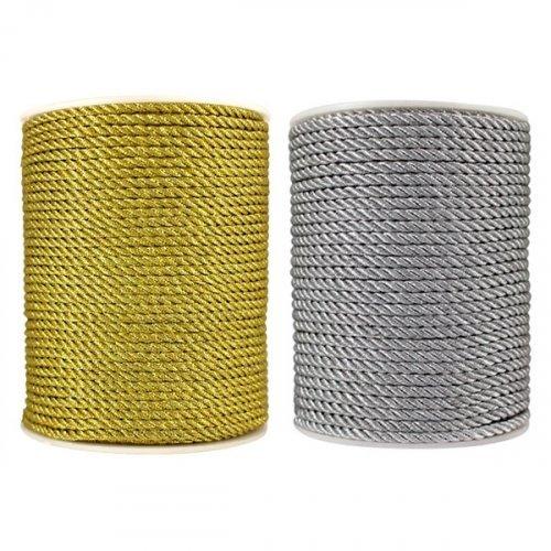 Шнур верёвка с люрексом 3мм 1/50м