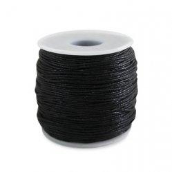 Шнур вощёный 1,0 мм, чёрный