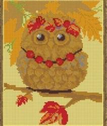 Набор для вышивания бисером К-492 «Осенняя совушка»