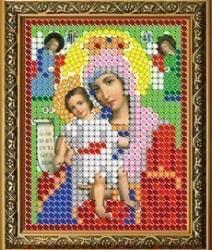 """Рисунок на ткани для вышивания бисером 309Л """"Прсв. Богородица Достойно Есть"""""""
