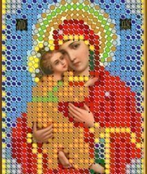 """Рисунок на ткани для вышивания бисером 373М """"Прсв. Богородица Владимирская"""""""