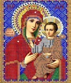 """Рисунок на ткани для вышивания бисером 387М """"Прсв. Богородица Скоропослушница"""""""
