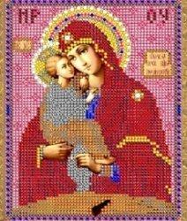 """Рисунок на ткани для вышивания бисером 402М """"Прсв.Богородица Почаевская"""""""