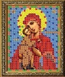 """Рисунок на ткани для вышивания бисером 403Л """"Прсв. Богородица Феодоровская"""""""