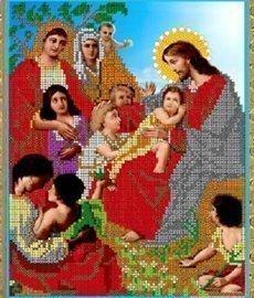 Рисунок на ткани для вышивания бисером Бис 437 «Беседа Иисуса с детьми»