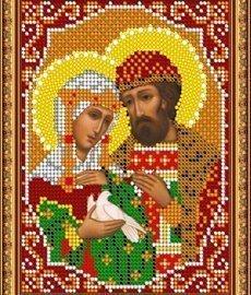 Pисунок на ткани для вышивания бисером 450М «Св.Блгв.Петр и Феврония»