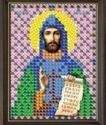 """Рисунок на ткани для вышивания бисером 772Л """"Святой Кирилл"""""""