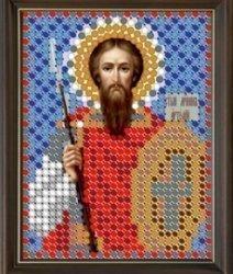 """Рисунок на ткани для вышивания бисером 783Л """"Святой Артемий"""""""