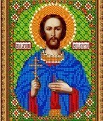 Pисунок на ткани для вышивания бисером 819М «Св.Леонид»