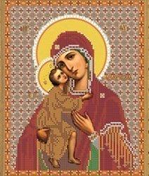 """Рисунок на ткани для вышивания бисером Бис 349 """"Прсв. Богородица Феодоровская"""""""