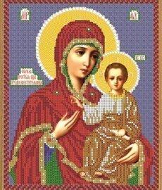 """Рисунок на ткани для вышивания бисером Бис 386 """"Прсв. Богородица Предвозвестительница"""""""