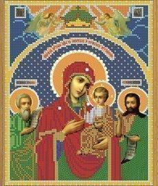 """Рисунок на ткани для вышивания бисером Бис 396 """"Прсв. Богородица В Скорбях и Печалях Утешения"""""""