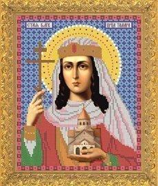 """Рисунок на ткани для вышивания бисером Бис 728 """"Св.Црца Тамара"""""""