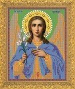 """Рисунок на ткани для вышивания бисером Бис 763 """"Святой Архангел Гавриил"""""""