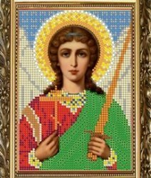 """Рисунок на ткани для вышивания бисером 304М """"Святой Ангел Хранитель"""""""